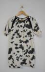 Дамска рокля с абстрактен принт