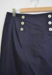 Дамска права пола с декоративни копчета