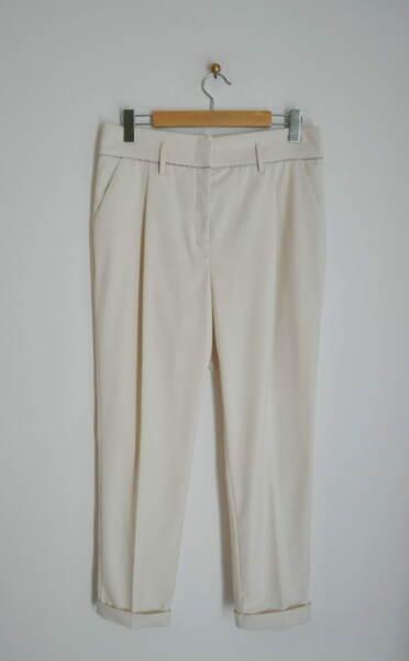 Дамски панталон с басти - екрю (второ качество)