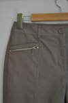 Дамски 7/8 панталон с  джобове и метален цип (второ качество)