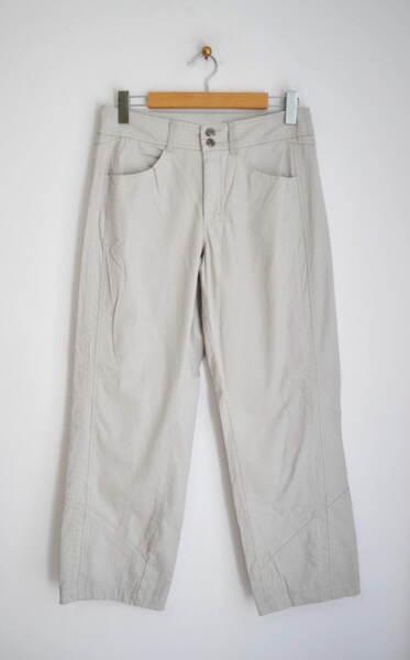 Сив дамски панталон с джобове (второ качество)