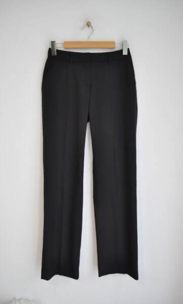 Прав дамски панталон с ръб - черен (второ качество)