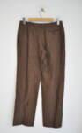 Ленен дамски панталон в кафяв меланж (второ качество)