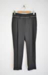 Дамски панталон с басти и сребрист паспел