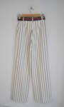 Дамски панталон на райета с подвижен колан