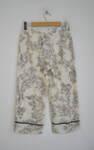 Ленен дамски панталон с флорален мотив