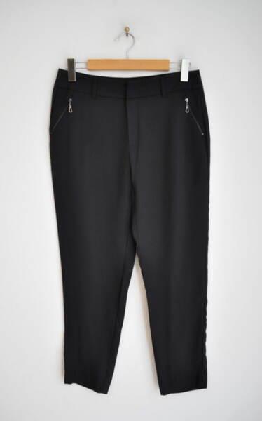 Дамски панталон със стеснен крачол - антрацит