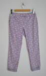 Лилав дамски панталон с принт на листенца