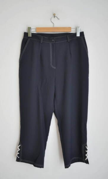 Дамски 7/8 панталон с контрастен шев (второ качество)