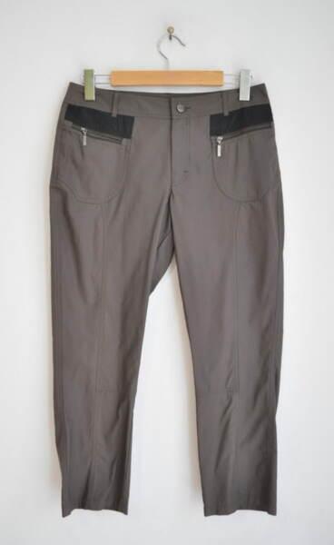 Дамски 7/8 панталон - метално кафяв (второ качество)