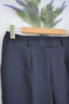 Тъмносин дамски панталон с италиански джоб