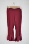Дамски панталон с къдрици - бордо
