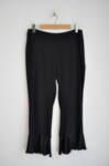 Дамски панталон с къдрици - черен