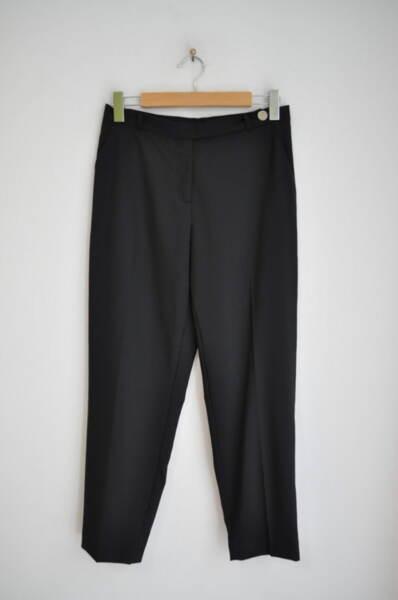 Дамски панталон с удължен колан -  черен (второ качество)