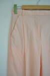 Дамски панталон с маншет на подгъва - розов