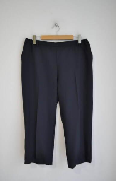 Дамски панталон с прав силует - тъмносин (второ качество)