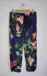 Дамски панталон с цветен флорален принт (второ качество)