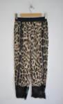 Дамски панталон с леопардов принт и дантела
