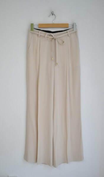 Дамски панталон с широк крачол - свободен силует