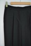 Дамски панталон с ръб и широк крачол - черен (второ качество)