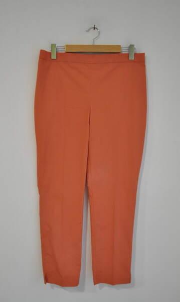 Дамски панталон  с изчистен силует - оранжев (второ качество)