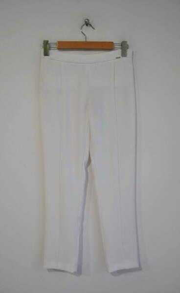 Дамски бял пантаон с вечен ръб (второ качество)