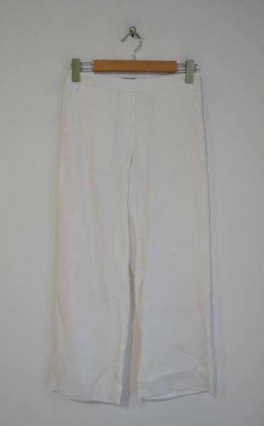 Ленен дамски панталон с ластик на талията