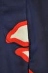 Тъмносини дамски къси панталони с камъчета (второ качество)