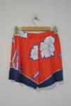 Оранжеви дамски къси панталони с камъчета