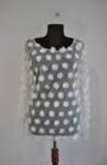 Дамска блуза от ефектна мрежа на цветя