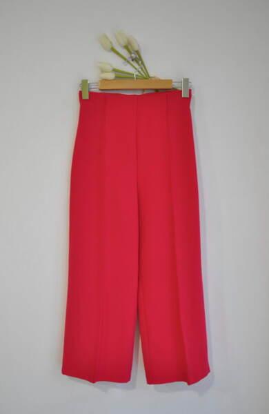 Дамски 7/8 панталон с висока талия - циклама