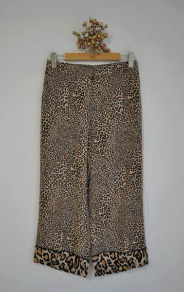 Дамски 7/8 панталон с леопардов принт (второ качество)