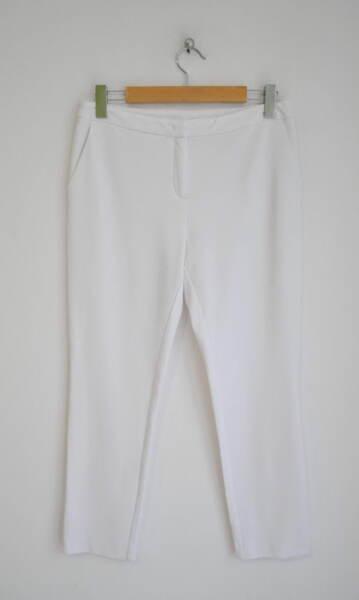 Дамски еластичен панталон в бяло (второ качество)