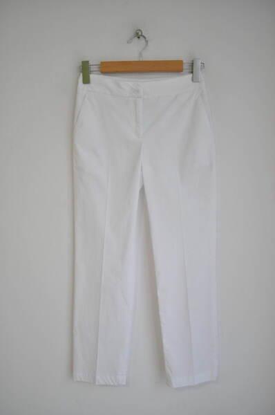 Прав дамски панталон в бяло