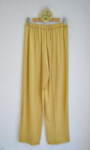 Дамски панталон с широк крачол - горчица (второ качество)