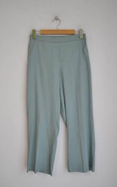 Ленен дамски панталон - светлосин (второ качество)