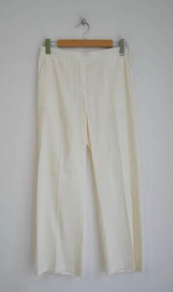 Ленен дамски панталон - екрю