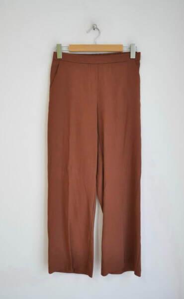Ленен дамски панталон - кафяв (второ качество)