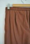 Ленен дамски панталон - кафяв