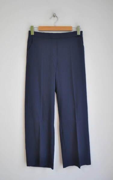 Ленен дамски панталон - тъмносин