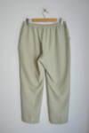 Светлозелен дамски панталон с малка бродерия