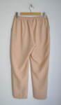 Бежов дамски панталон с малка бродерия