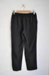 Дамски панталон с декоративен колан с катарама - черен