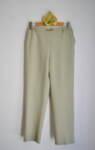 Дамски панталон с декоративен колан с катарама - светлозелен