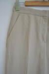 Дамски ленен панталон  с широк крачол (второ качество)