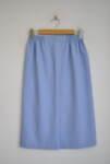 Дамска пола с ластик на талията в светлосин цвят