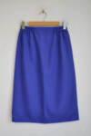 Дамска пола с ластик на талията в синьо-лилав цвят