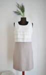 Дамска рокля с контрастна долна част