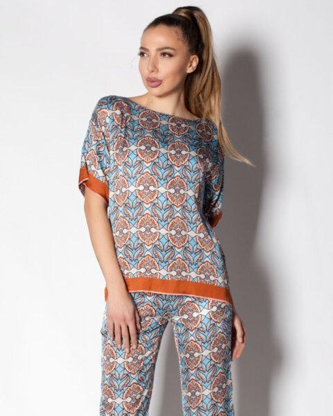 Дамска блуза с флорален принт