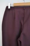 Дамски панталон с прав силует в цвят патладжан
